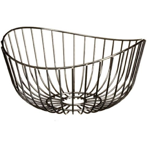 Black Nickel Fruit Bowl Basket